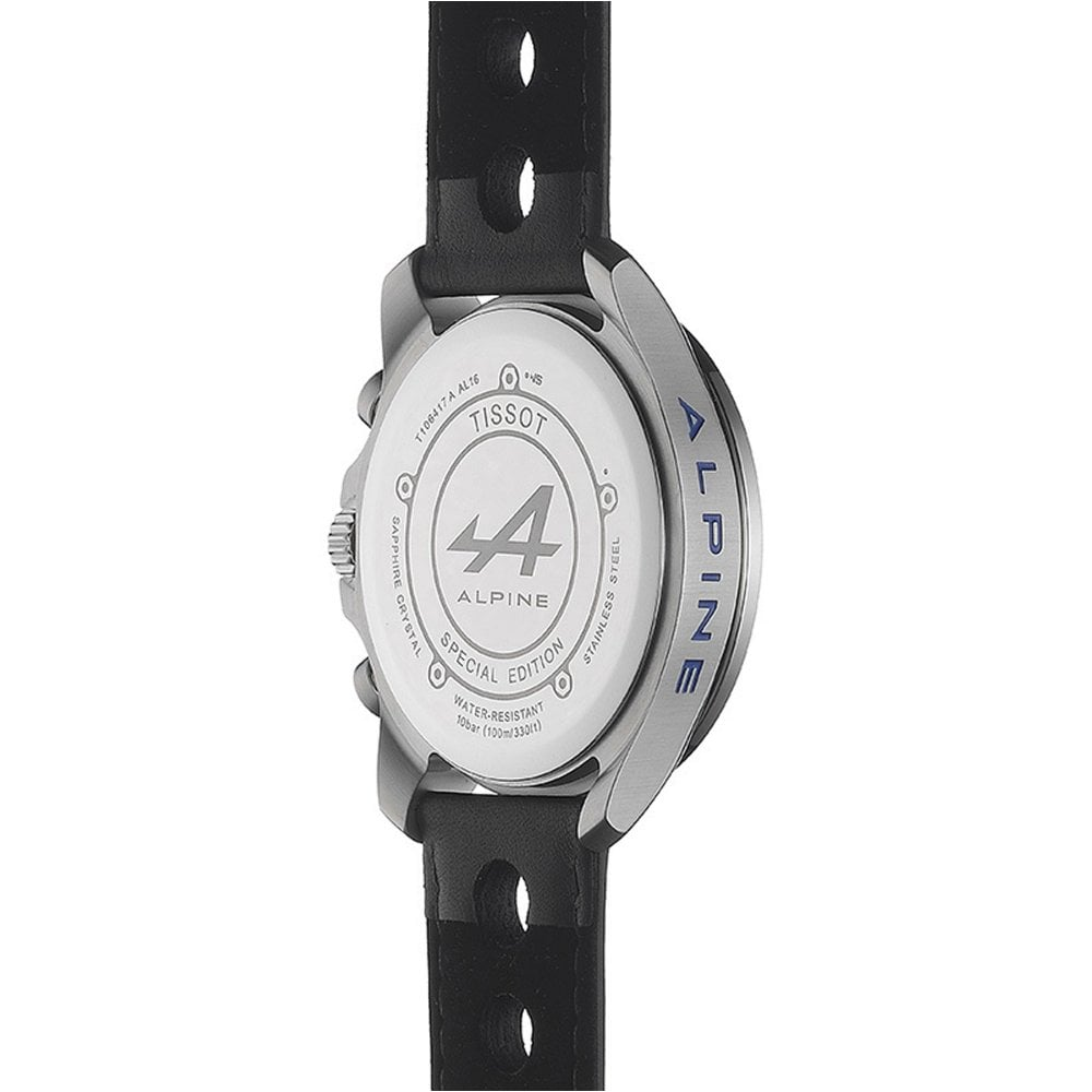 T106 417 16 201 01 Limited Edition Alpine Black And Blue Leather