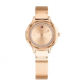 7a6dddab Tommy Hilfiger 1781919 Pippa Silver and Pink Leather Ladies Watch