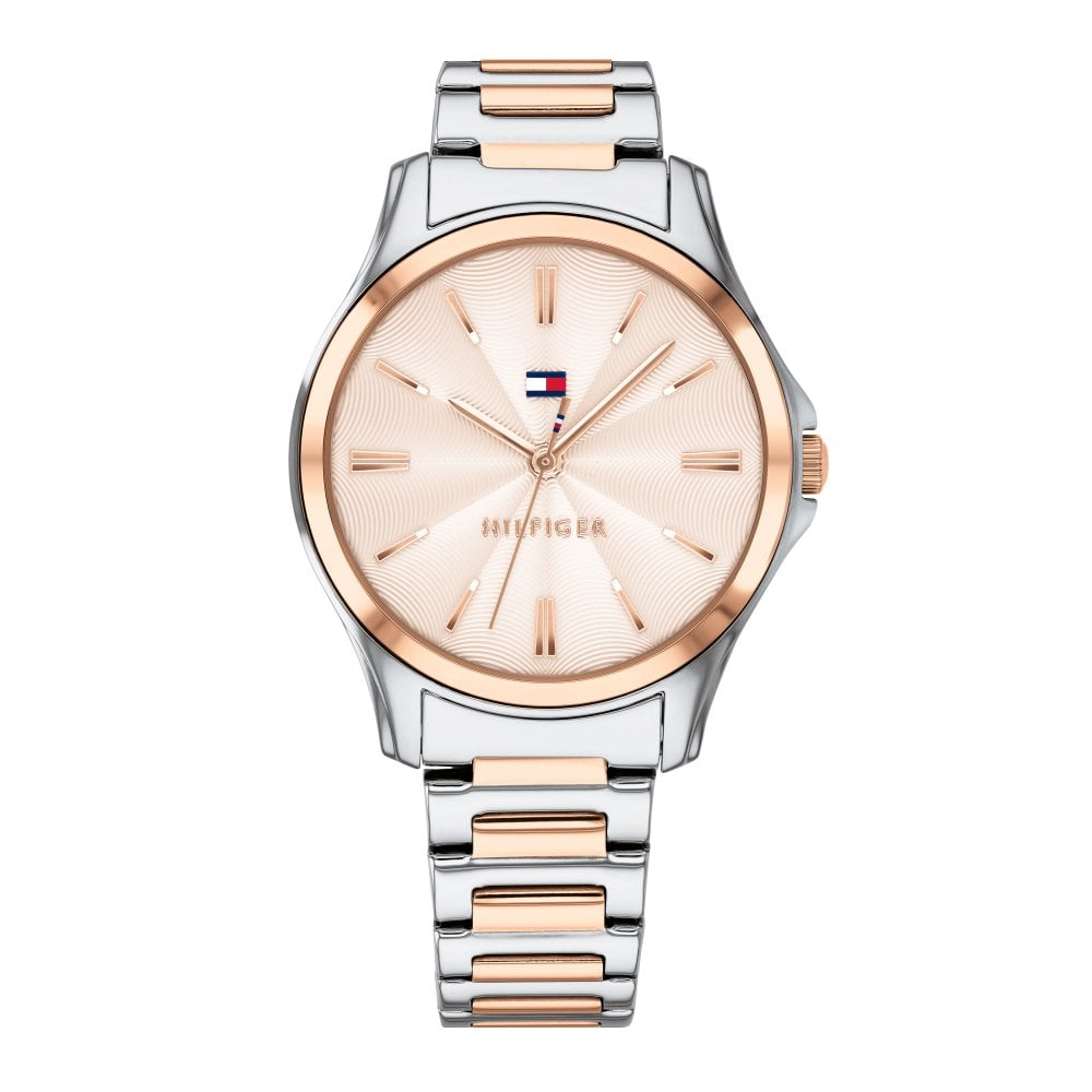 dd8bf3b7a607 Tommy Hilfiger 1781952 Lori Rose Gold and Silver Stainless Steel ...