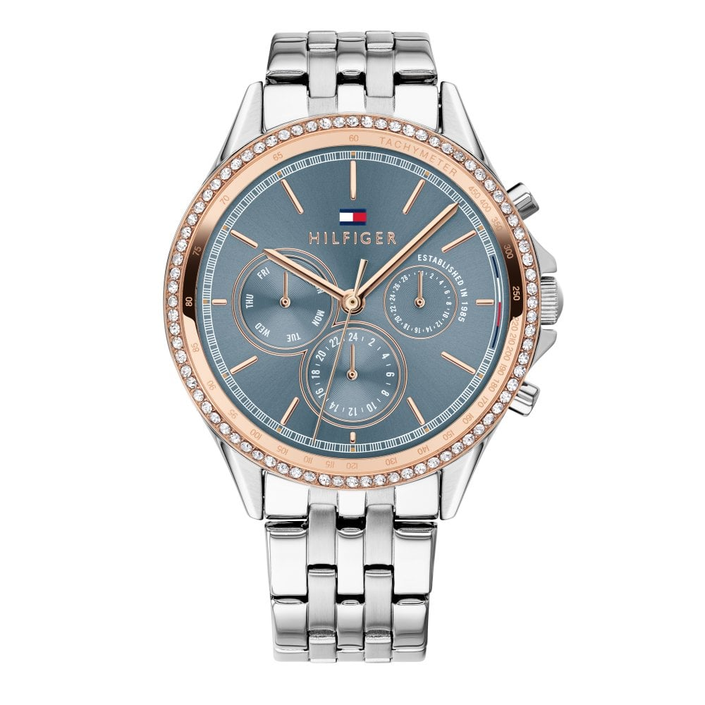 9fbbd698265c Tommy Hilfiger 1781976 Ari Blue and Silver Stainless Steel Women s ...