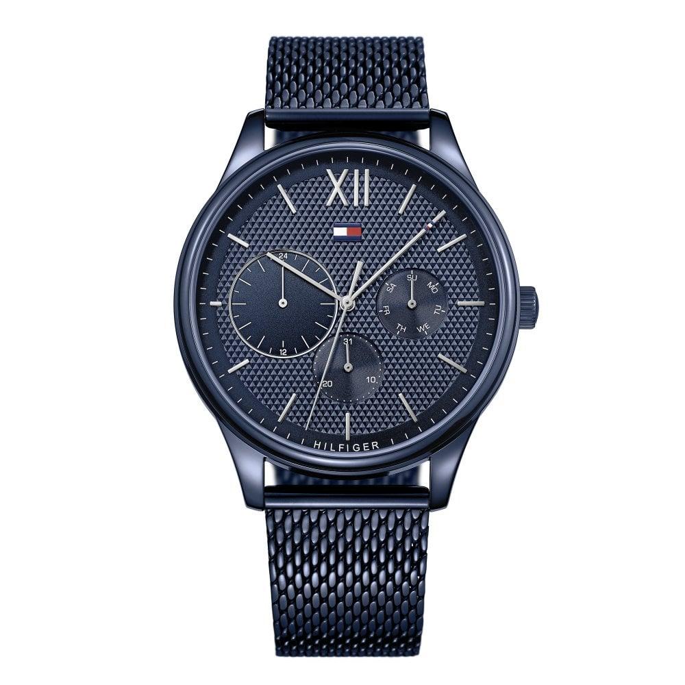 d51014ee Tommy Hilfiger 1791421 Damon Blue Mesh Men's Watch