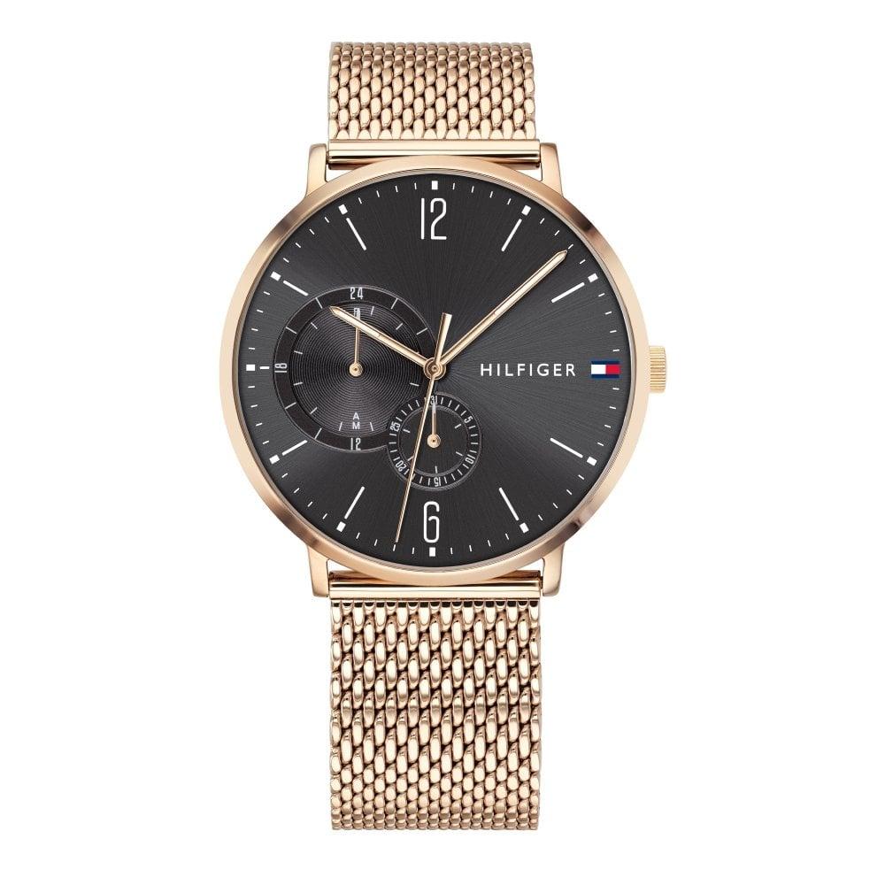 c0b5ae14 Tommy Hilfiger 1791506 Brooklyn Rose Gold Mesh Men's Watch