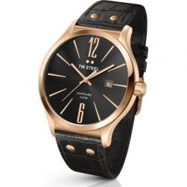 TW Steel TW1303 Slim Line Mens Rose Gold & Brown Leather Watch