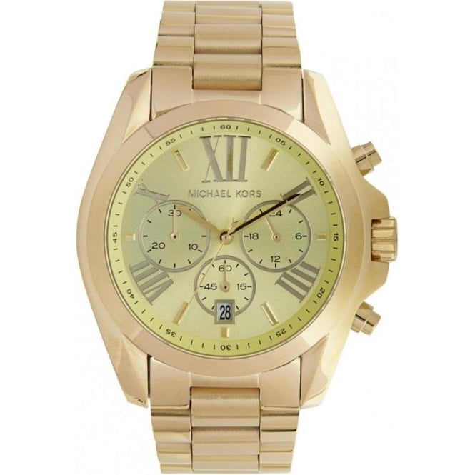 5c394f412e37 Michael Kors chronograph Gold Stainless steel watch MK5605 ...