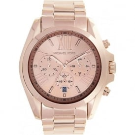 Michael Kors Watches Unisex Chronograph Rose Gold Stainless steel Watch MK5503
