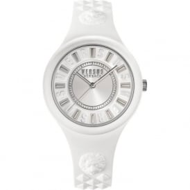 Versus Versace SOQ010015 Silver & White Rubber Ladies Watch