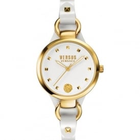 Versus Versace SOM04 Womens Petite White Leather Watch