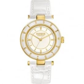 Versus Versace SP815 Womens White Textured Leather Watch