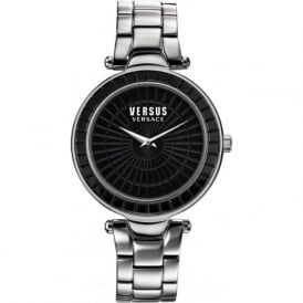 Versus Versace SQ106 Womens Black Face Stainless Steel Watch