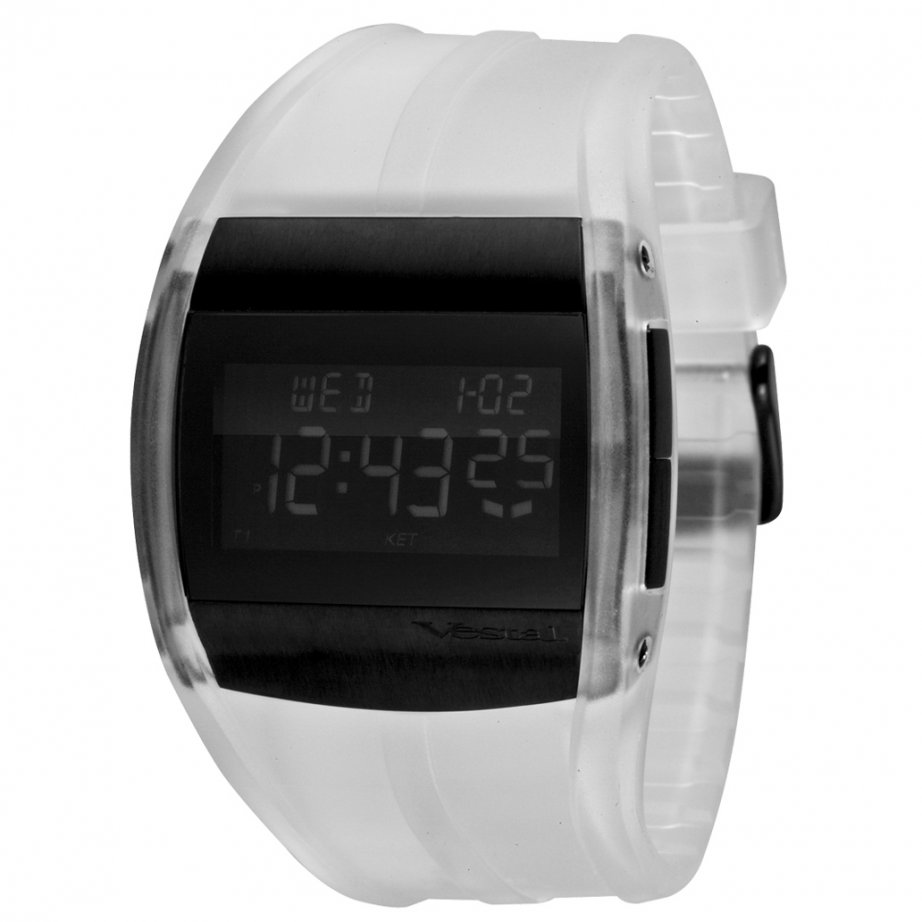 vestal crusader clear black digital cru011 buy