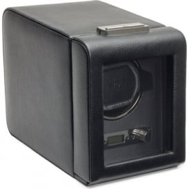 Wolf Designs Viceroy Black Leather & Grey Single Watch Winder 2.7