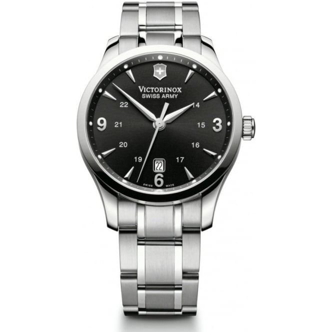 Victorinox Swiss Army 241473 Alliance Stainless Steel & Black Dial Quartz Watch