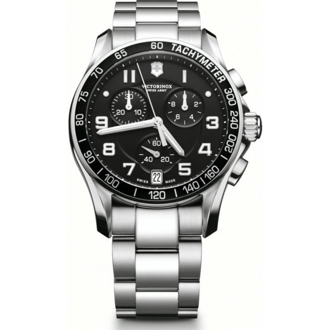 army chronograph swiss mens stainless victor chrono classic steel medium amp inox watches black victorinox watch