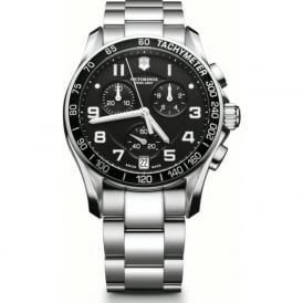 241494 Chrono Classic Stainless Steel & Black Chronograph Watch