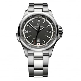 241569 Night Vision Stainless Steel & Black Dial Swiss Watch