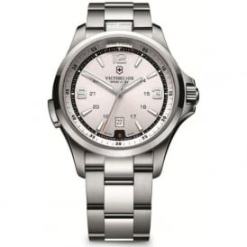 Victorinox Swiss Army 241571 Night Vision Stainless Steel & Silver Dial Swiss Watch