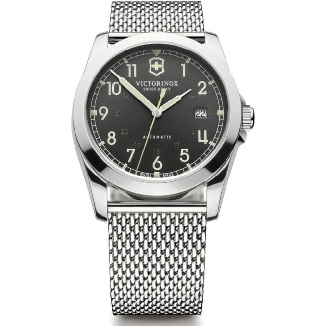 army watch swiss bracelet victor inox victorinox mechanical silver automatic alliance dial steel watches