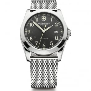 Victorinox Swiss Army 241587 Infantry Stainless Steel Mesh & Black Dial Automatic Watch
