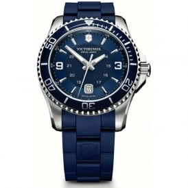 241603 Maverick 43mm Blue Rubber & Steel Swiss Quartz Watch