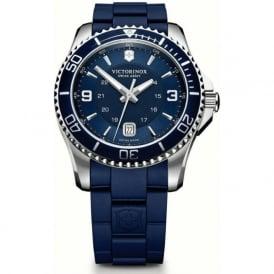 Victorinox Swiss Army 241603 Maverick 43mm Blue Rubber & Steel Swiss Quartz Watch