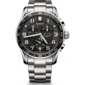 Victorinox Swiss Army 241650 Chrono Classic XLS 45mm Stainless Steel & Black Chronograph Watch