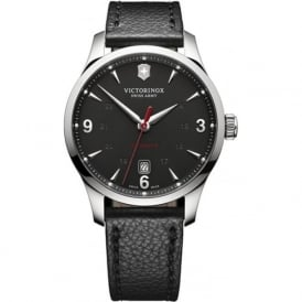 241668 Alliance Black Leather & Black Dial Automatic Watch