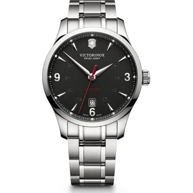Victorinox Swiss Army 241669 Alliance Stainless Steel & Black Dial Automatic Watch