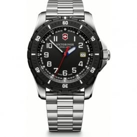 241675 Maverick Sport Black & Steel Swiss Quartz Watch