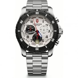 241681 Maverick Sport Black & White Stainless Steel Chronograph Watch