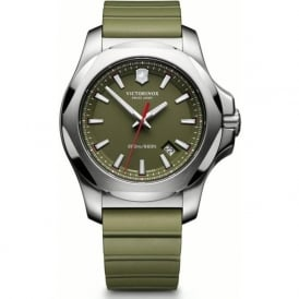 Victorinox Swiss Army 241683.1 I.N.O.X Green Rubber & Steel Swiss Watch