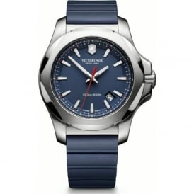 Victorinox Swiss Army 241688.1 I.N.O.X Blue Rubber & Steel Swiss Watch