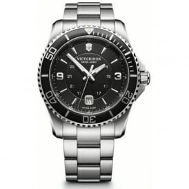 241697 Maverick 43mm Black & Stainless Steel Swiss Watch