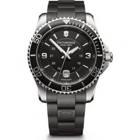 Victorinox Swiss Army 241698 Maverick 43mm Black Rubber & Steel Swiss Watch