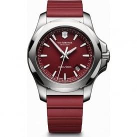 Victorinox Swiss Army 241719.1 I.N.O.X Red Rubber& Steel Swiss Watch