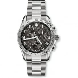 Victorinox Swiss Army 241405 Chrono Classic Textured Grey & Stainless Steel Chronograph Watch