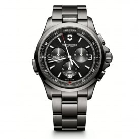 Victorinox Swiss Army 241730 Night Vision Black Ice PVD Chronograph Watch