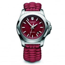 Victorinox Swiss Army 241744 I.N.O.X. Paracord Red Fabric & Steel Men's Watch
