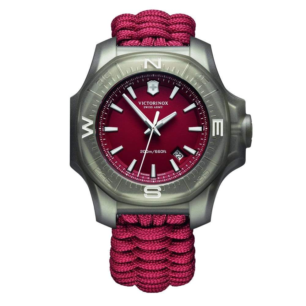 Victorinox Swiss Army Victorinox Swiss Army 241744 I.N.O.X. Paracord Red  Fabric   Steel Men s Watch 1216fa09fc35