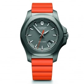 Victorinox Swiss Army 241758 I.N.O.X. Titanium Grey & Orange Genuine Rubber Men's Watch