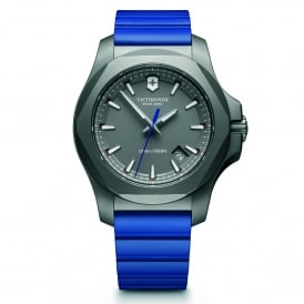 241759 I.N.O.X. Titanium Grey & Blue Genuine Rubber Men's Watch
