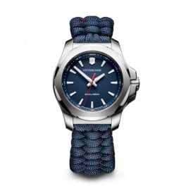 241770 I.N.O.X. V Silver & Blue Paracord Fabric Ladies Watch
