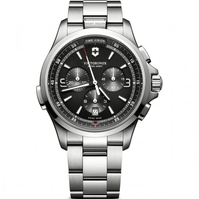 503771e9622f 241780 Night Vision Stainless Steel Chronograph Watch
