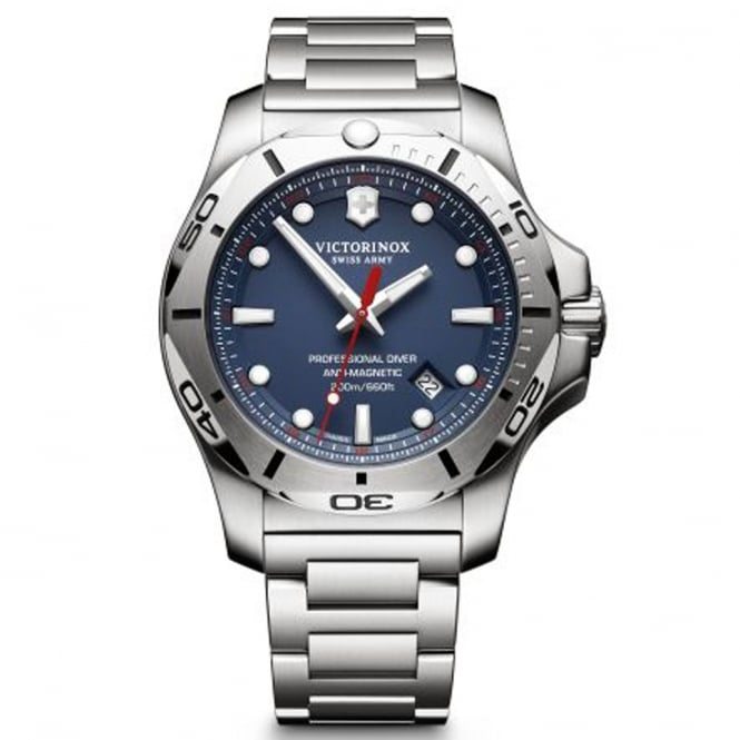 Victorinox Swiss Army 241782 I.N.O.X Professional Diver Blue & Silver Stainless Steel Men's Swiss Watch