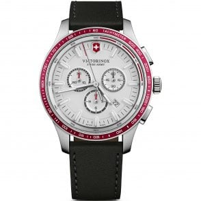 92640f02672a Victorinox Swiss Army 241819 Alliance Sport Chronograph Black Leather Swiss  Watch