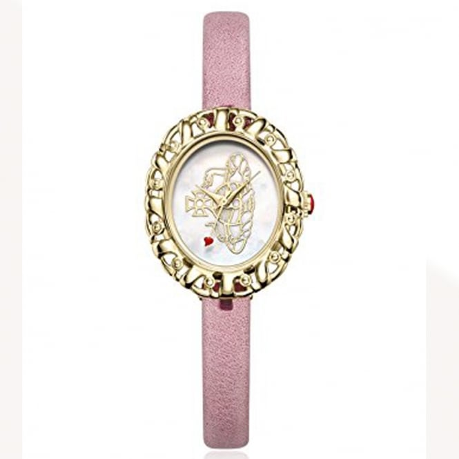 Vivienne Westwood Vivienne Westwood VV005CMPK Rococo Gold Plated Case & Pink Leather Ladies Watch