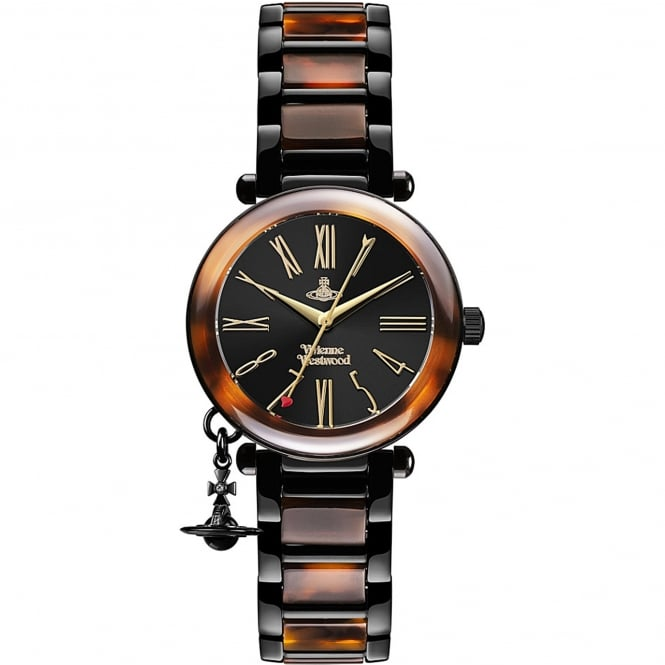 Vivienne Westwood VV006BKBR Orb Tortoise Shell Stainless Steel Ladies Watch