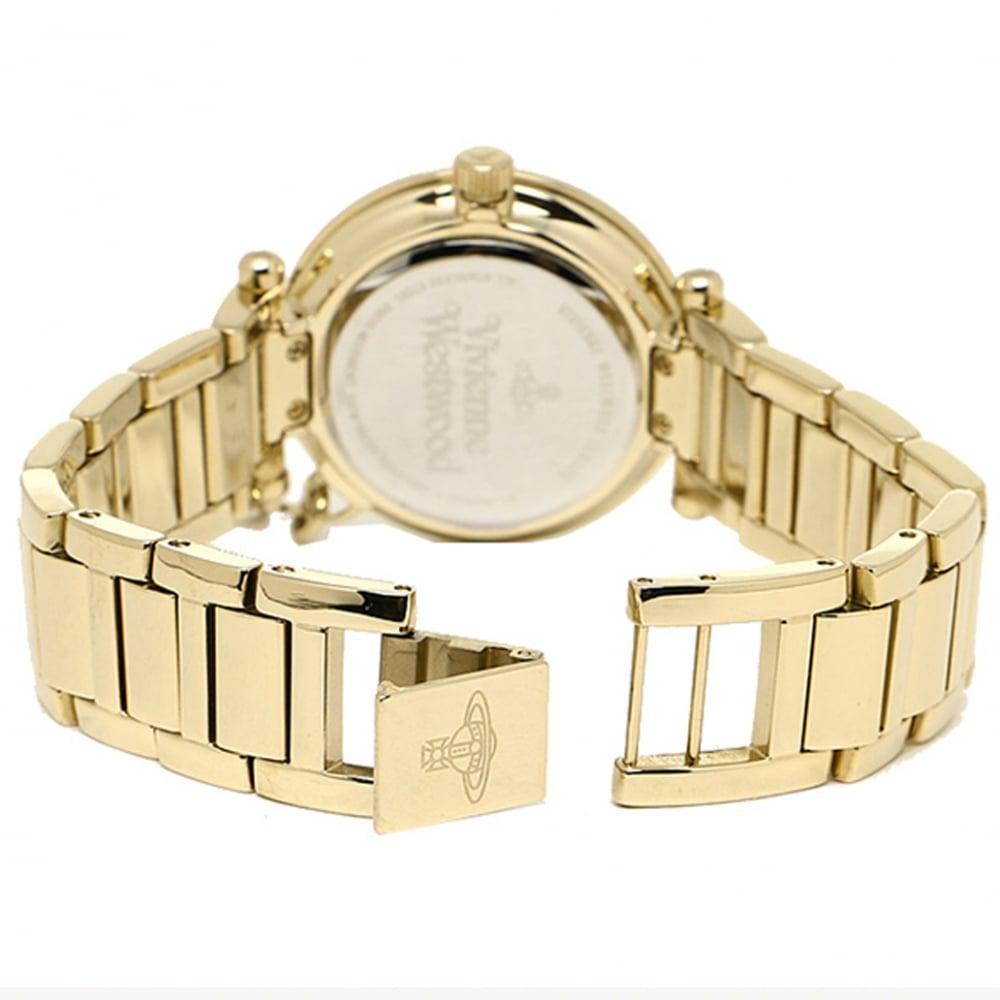 af1d22a2b0b Vivienne Westwood VV006KGD Kensington Gold Stainless Steel Ladies Watch