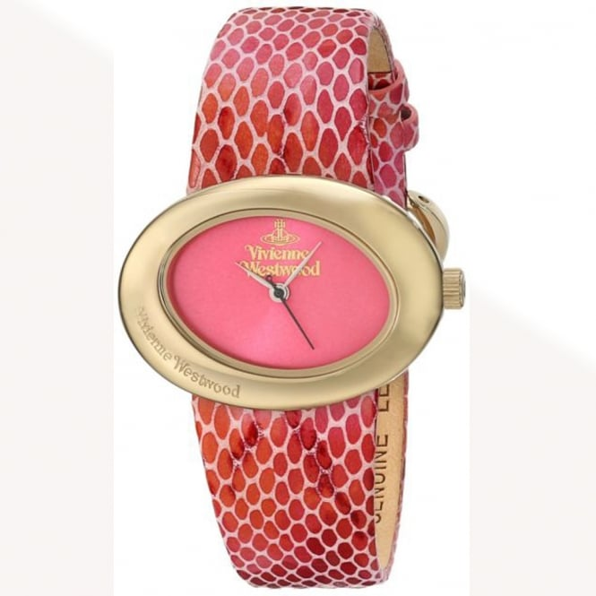 Vivienne Westwood Vivienne Westwood VV014PKPK Ellipse Gold & Pink Leather Ladies Watch