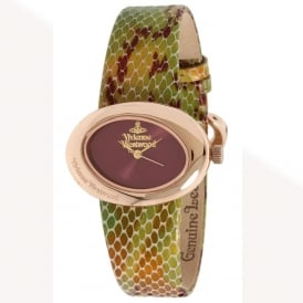 Vivienne Westwood VV014RS Ellipse Rose Gold & Multi-coloured Leather Ladies Watch