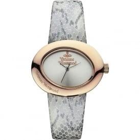 Vivienne Westwood VV014SLGY Ellipse II Rose Gold & Snakeskin Leather Ladies Watch
